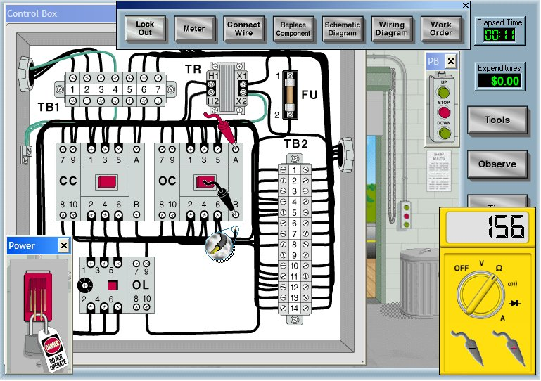 Electronic simulation software