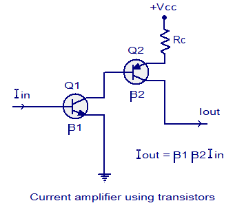 Current amplifier, voltage follower, current follower