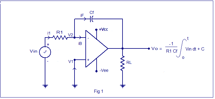 Integrator circuit using opamp. opamp integrator design ...