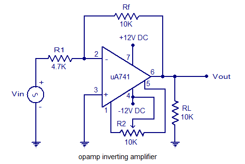 inverting amplifier 741