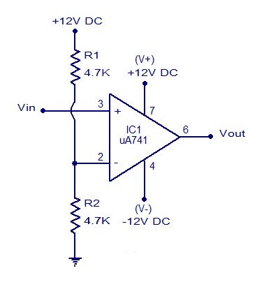 voltage comparator using opamp inverting voltage comparator non rh circuitstoday com comparator circuit diagram using lm324 comparator circuit diagram using lm324