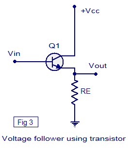 voltage buffer using transistor