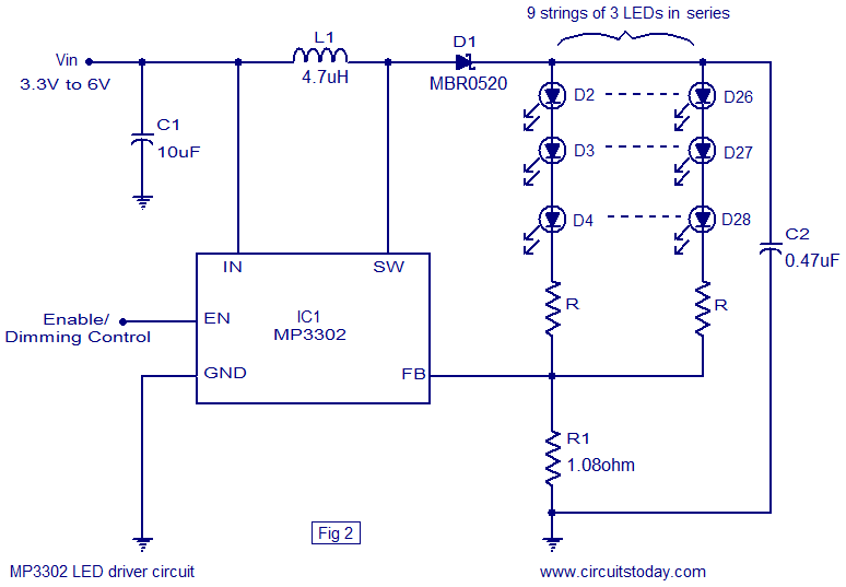 Mp3302 Led Driver Ic Circuit