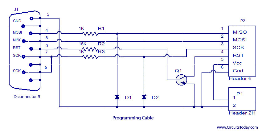 Enjoyable Isp Programmer Circuit Electronic Circuits And Diagrams Electronic Wiring Cloud Nuvitbieswglorg