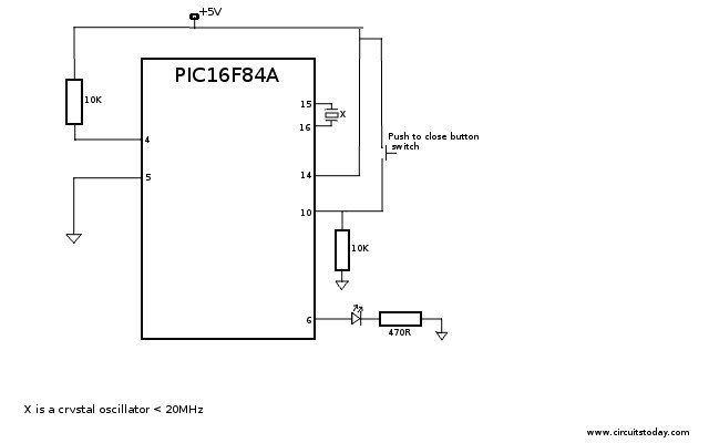 pic16f84a - working with inputs