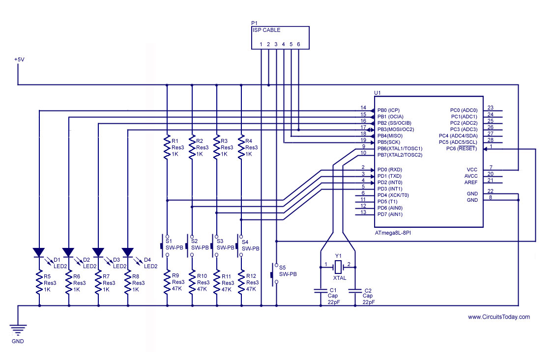 Input Output Wiring Diagram Archive Of Automotive Plc Diagrams Tutorials How To Handle Digital I O In Avr Microcontroller Rh Circuitstoday Com Sm 1234 Analog Module