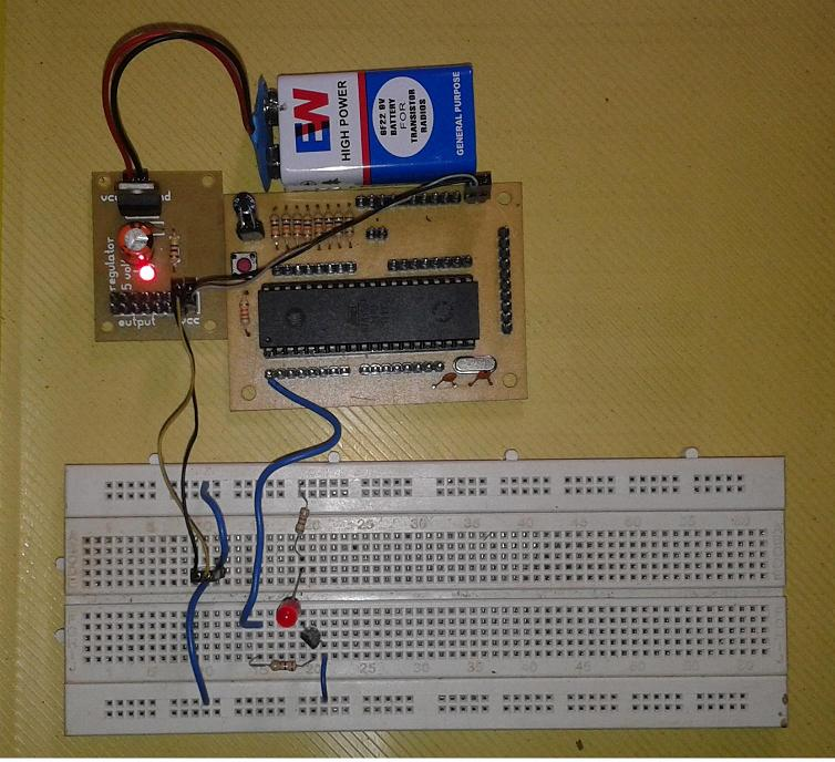 Blinking LED Using 8051. Circuit Diagram And Programs