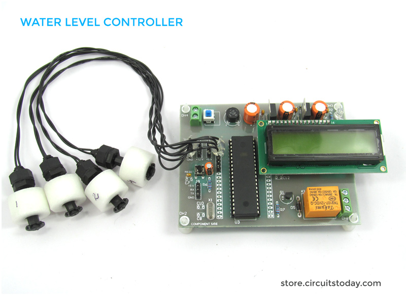 water level controller using 8051 microcontroller water level indicator project kit