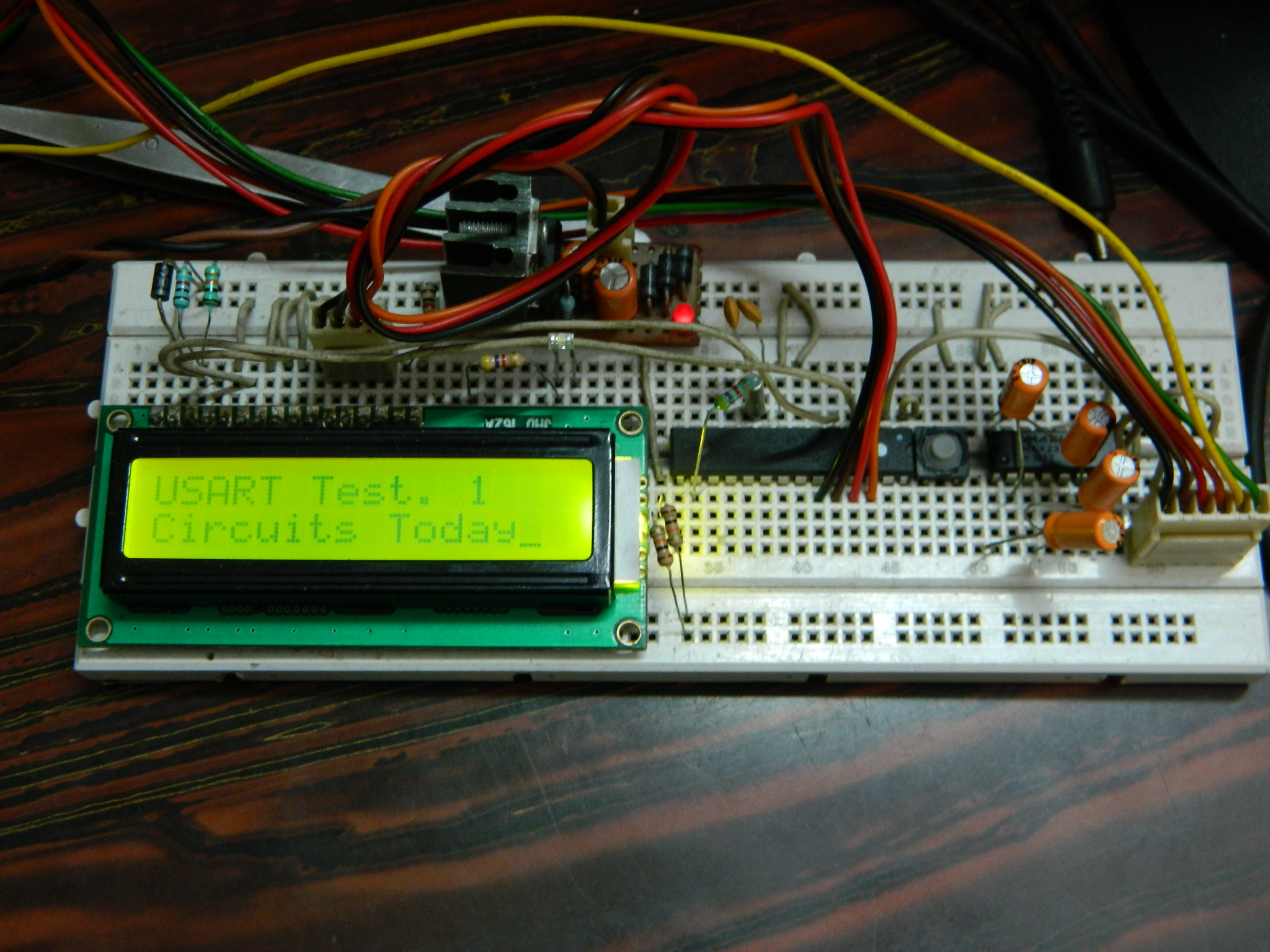 How To Make A Pc Micro Controller Usart Communication Using Avr Atmega8 Microcontrollers Within These Pages Youll Find Circuits About The
