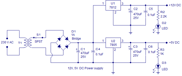 LCD tachometer power supply
