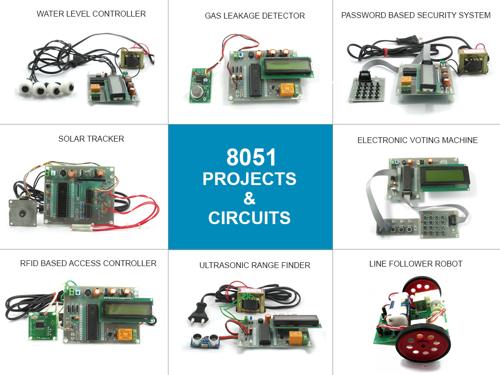8051 Micro Controller Projects Circuits For Engineering Pir Sensor Based Security Alarm Circuit Diagram Project Kits And