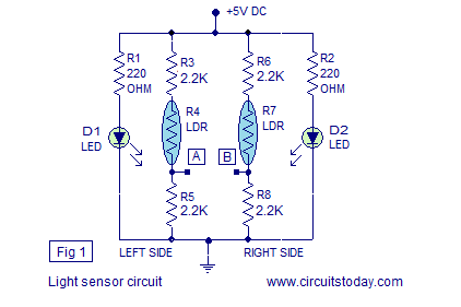 light sensor line follower robot