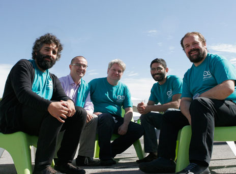 Arduino developer team - David Cuartielles, Gianluca Martino, Tom Igoe, David Mellis, and Massimo Banzi