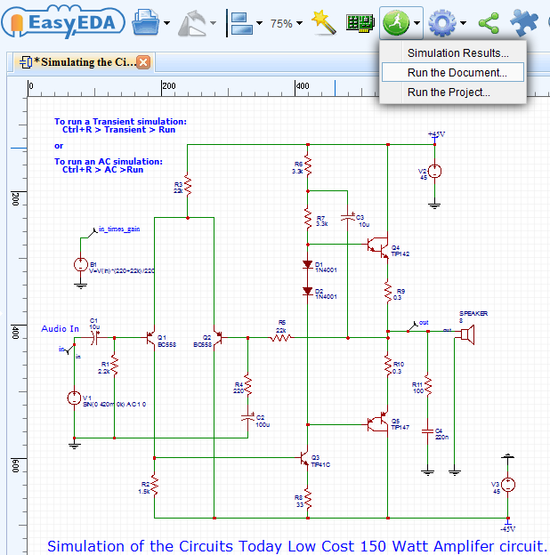 How to draw circuit diagram pcb layout and simulate circuit online a asfbconference2016 Images