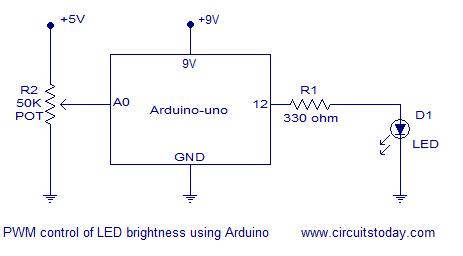 led brightness control arduino