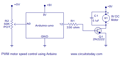 dc motor speed control using arduino