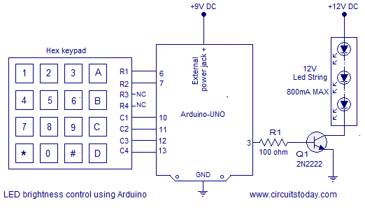 brightness control of led using arduino
