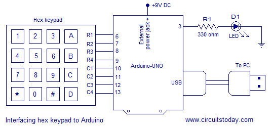 digital code lock using arduino circuit diagram program and theory circuit diagram digital combination lock using arduino