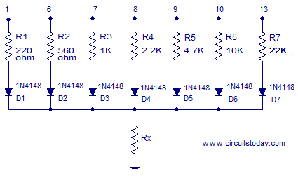 OhmMeter Circuit Using Arduino - Measure Resistance in LCD
