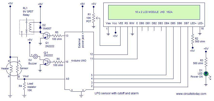 lpg gas sensor using arduino