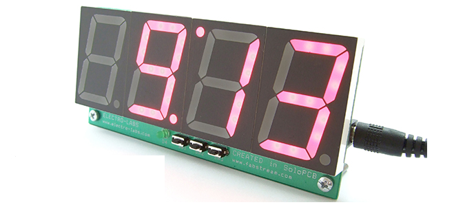 Diy Digital Clock Temperature Display on step down converter controller