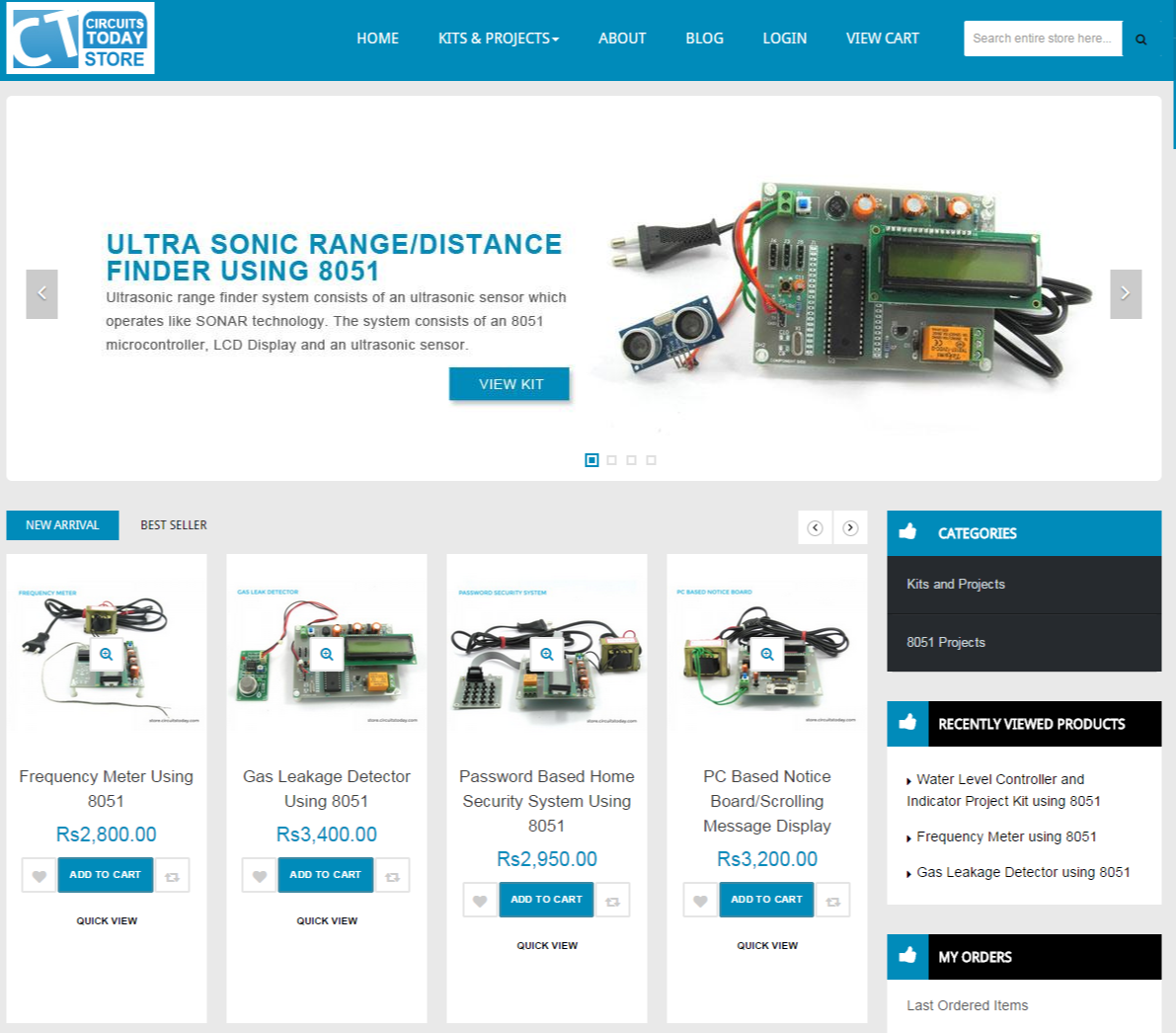 Online Store To Buy Electronic Components And Project Kits In India Best Projects Sites Ct Screenshot
