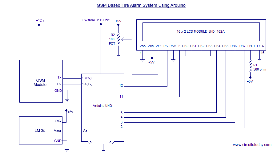 Incredible Gsm Based Sms Alert Fire Alarm System Using Arduino Wiring Digital Resources Antuskbiperorg