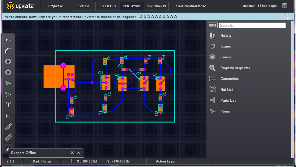 PCB Layout in Online EDA Tool