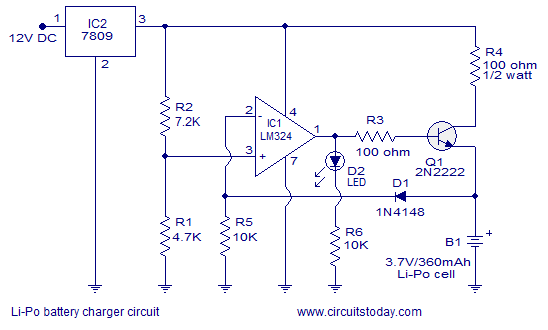 lipo battery charger circuit diagram lipo battery charger