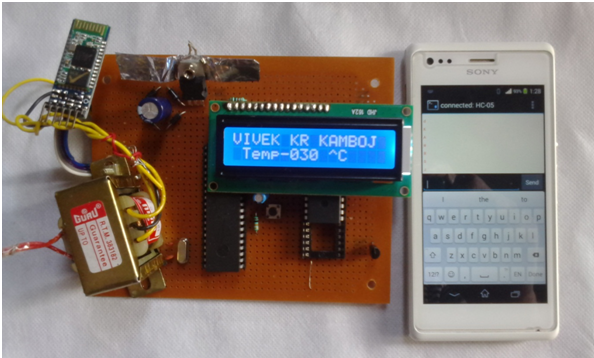 bluetooth temperature display