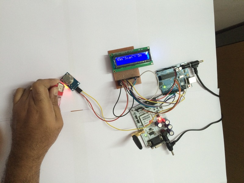 Gas leakage detector using GSM module