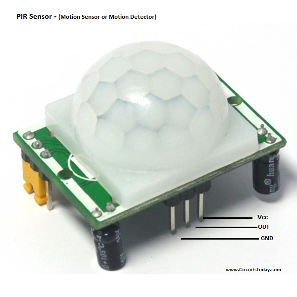 PIR Sensor Pin Out - Motion sensor - Motion Detector
