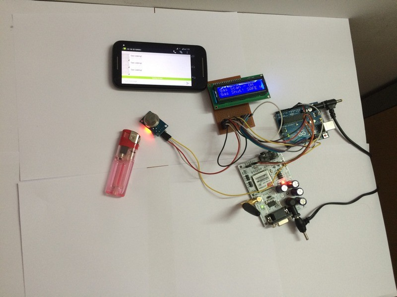 Gas Leakage Detector using Arduino and GSM Module with SMS Alert and Sound Alarm