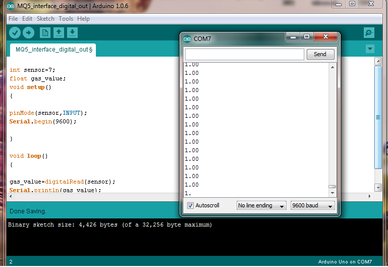 Interface Mq5 with Arduino using D0 or Digital Out pin of MQ5