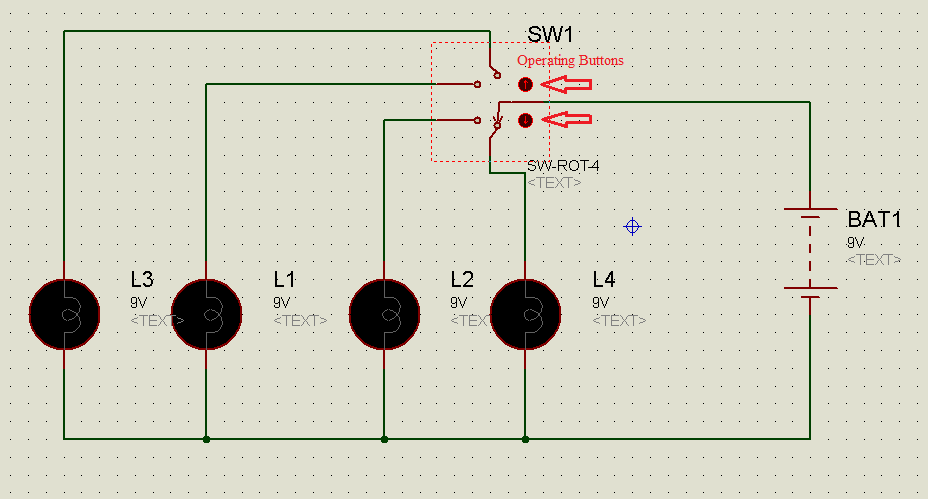 Circuit diagram for Rotary switch example