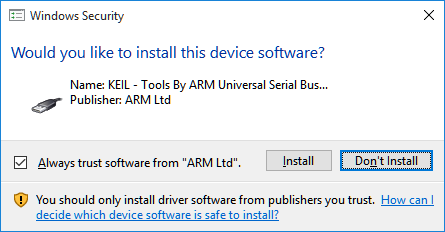 Windows Security - Driver Installation Notification