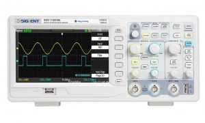 Siglent SDS1102CML Digital Storage Oscilloscope, 100MHz, 7 inch TFT-LCD Display with a NIST-Traceable Calibration Certificate with Data