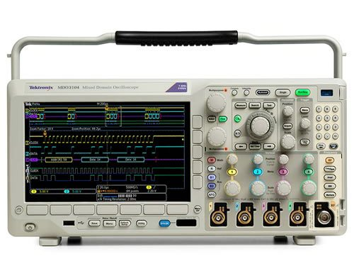 Tektronix MDO3024 200 MHz Mixed Domain Oscilloscope, 4 Analog Channels and 200 MHz Spectrum Analyzer