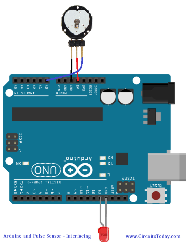 Pulse Sensor and Arduino - Interfacing