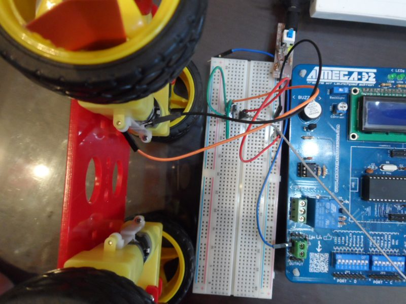 DC Motor Speed Control using PWM in AVR Atmega32