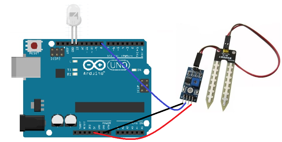Interface Arduino and Soil Moisture Sensor