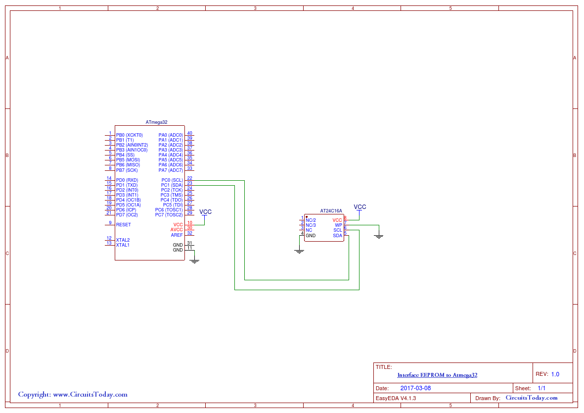 Interface Eeprom Atmega32 Electronic Circuits And