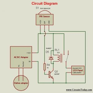 Motion Sensor Light Circuit Electronic Circuits And