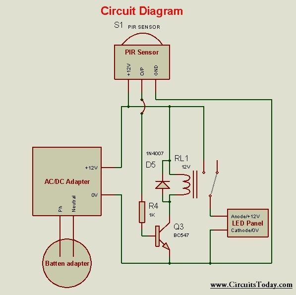 Motion Detector Light - Circuit