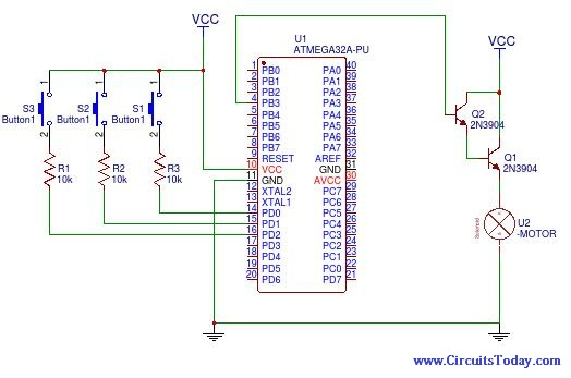 DC Motor Speed Control using PWM in AVR Atmega32 - Electronic