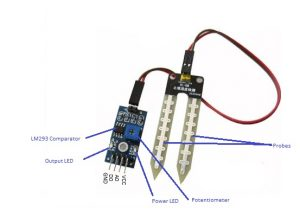 Pin Out Diagram - Soil Moisture Sensor