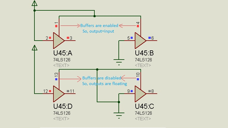 Tri-state Output Buffer Gate Operation