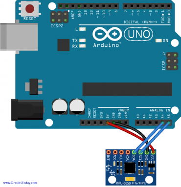 Interfacing Accelerometer to Arduino