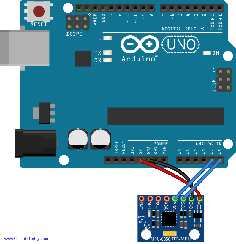 Interface Accelerometer Arduino on Quadcopter Wiring Diagram
