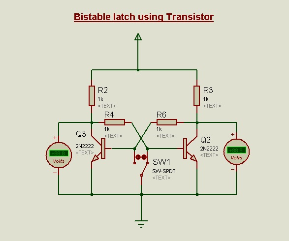 Circuit diagram for Bi-stable latch